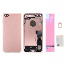 Back Housing with Small Parts Assembly without Logo for Apple iPhone 7 Plus(OEM)-Rose Gold