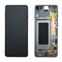 OLED Assembly with Frame for Samsung Galaxy S10 Edge (Super OEM) - Black