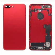 Back Housing with Small Parts Assembly without Logo for Apple iPhone 7 Plus (OEM) - Red