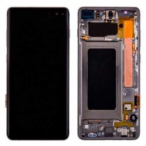 OLED Assembly with Frame for Samsung Galaxy S10 Plus (OEM) - Black