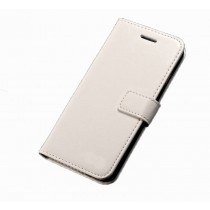 Flip Leather Phone Case with Soft Silicone Phone Holder and Card Slots for Apple iPhone 6G/6S-White