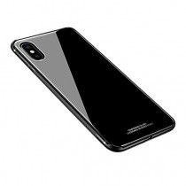 Back Housing with Glass without Logo for Apple iPhone XS Max (OEM) - Black