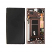 OLED Assembly with Frame for Samsung Galaxy Note 9 (Super OEM) - Gold