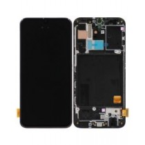 LCD Assembly with Frame for Samsung Galaxy A40 (Super OEM) - Black
