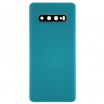 Back Cover without Logo for Samsung Galaxy S10 Plus(OEM)-Green(MOQ:20PCS)